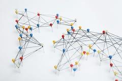 Estructura de la econom?a mundial, red de comunicaciones foto de archivo libre de regalías