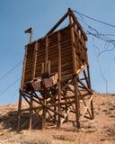 Estructura de la explotación minera, canal inclinado del mineral Fotografía de archivo libre de regalías