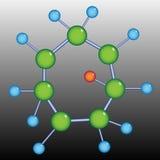 Estructura de la molécula Imágenes de archivo libres de regalías