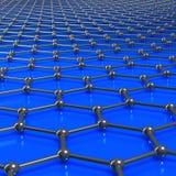 Moléculas de Graphene que forman un fondo ligado stock de ilustración