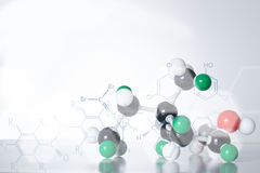 Estructura de la molécula de la DNA del átomo de la ciencia imagen de archivo