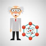 Estructura de la molécula del concepto de la química del científico Fotos de archivo libres de regalías
