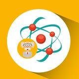 Estructura de la molécula del concepto de la química del científico Foto de archivo