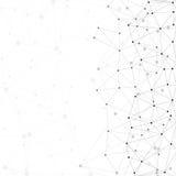 Estructura de la molécula, fondo gris para Imágenes de archivo libres de regalías