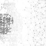 Estructura de la molécula, fondo gris para Fotos de archivo libres de regalías