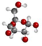 Estructura de la molécula de la glucosa Fotos de archivo libres de regalías