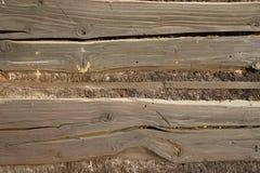 Estructura de la viga de madera Imágenes de archivo libres de regalías