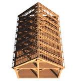 Estructura de madera de la azotea stock de ilustración