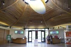 Estructura de madera del techo de la luz natural Foto de archivo libre de regalías