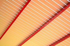 Estructura de madera para la cortina. Imágenes de archivo libres de regalías