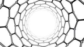 Estructura de Nanotube ilustración del vector
