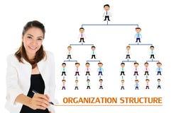 Estructura de organización del concepto del negocio Fotografía de archivo