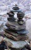 Estructura de piedra temblorosa fotografía de archivo libre de regalías