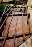 Estructura de piso de madera Imagen de archivo libre de regalías