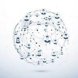 Estructura de red Concepto social de los media Ilustración del vector libre illustration