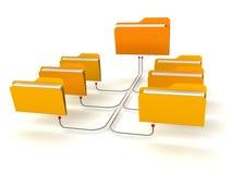 Estructura de red de las carpetas Imagen de archivo libre de regalías