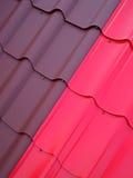 Estructura de tejado coloreada de la lata 1 Imagen de archivo libre de regalías