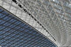Estructura de tejado de acero Imágenes de archivo libres de regalías