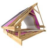 Estructura de tejado, detalles del aislamiento ilustración del vector