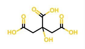 Estructura del ácido cítrico libre illustration