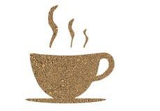 Estructura del café como taza Imagen de archivo libre de regalías
