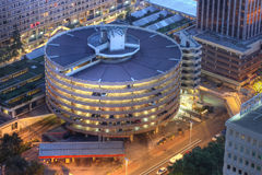 Estructura del estacionamiento en Lyon, Francia foto de archivo libre de regalías
