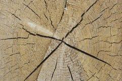 Estructura del fondo de la madera con las grietas Fotos de archivo