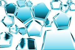 Estructura del hielo Fotos de archivo libres de regalías