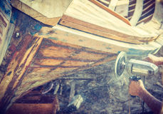 Estructura del hombre el barco Foto de archivo libre de regalías