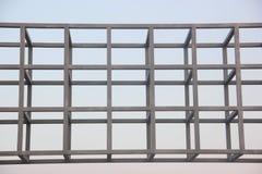Estructura del marco de acero Imagen de archivo libre de regalías