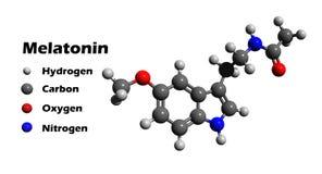 Melatonin fotograf a de archivo libre de regal as imagen for Marmol formula quimica