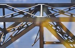 Estructura del metal con nieve Fotos de archivo libres de regalías
