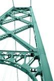 Estructura del puente en el fondo blanco Fotografía de archivo libre de regalías