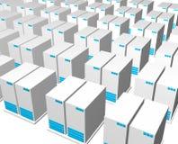 estructura del servidor 3d Imágenes de archivo libres de regalías