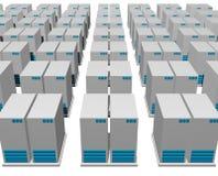 estructura del servidor 3d Fotos de archivo libres de regalías