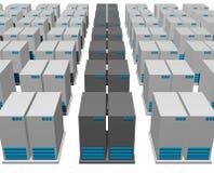 estructura del servidor 3d Imagen de archivo