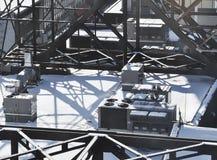Estructura del tejado del invierno Imágenes de archivo libres de regalías