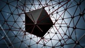 Estructura del átomo para la tecnología Fotografía de archivo