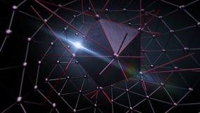 Estructura del átomo para la tecnología Imagen de archivo libre de regalías