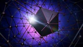 Estructura del átomo para la tecnología Imágenes de archivo libres de regalías