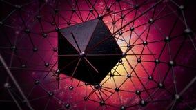 Estructura del átomo para la tecnología Foto de archivo