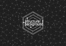 Estructura en un fondo gris Ilustración del vector Imágenes de archivo libres de regalías
