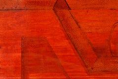 Estructura en un fondo rojo. Imagenes de archivo