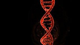 Estructura, filamento, reparación, el corregir y manipulación de la molécula de la DNA representación 3d Iluminación anaranjada,  stock de ilustración