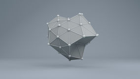 Estructura futurista 10868 de la geometría de Wireframe Foto de archivo