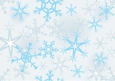 Estructura inconsútil con los copos de nieve Fotografía de archivo libre de regalías