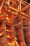 Estructura interior del equipmet de trabajo del túnel Imagen de archivo