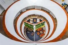 Estructura interior del hotel del acuario de Decameron Fotografía de archivo libre de regalías
