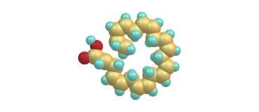 Estructura molecular ácida Docosahexaenoic aislada en blanco Imágenes de archivo libres de regalías