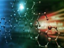 Estructura molecular ilustración del vector
